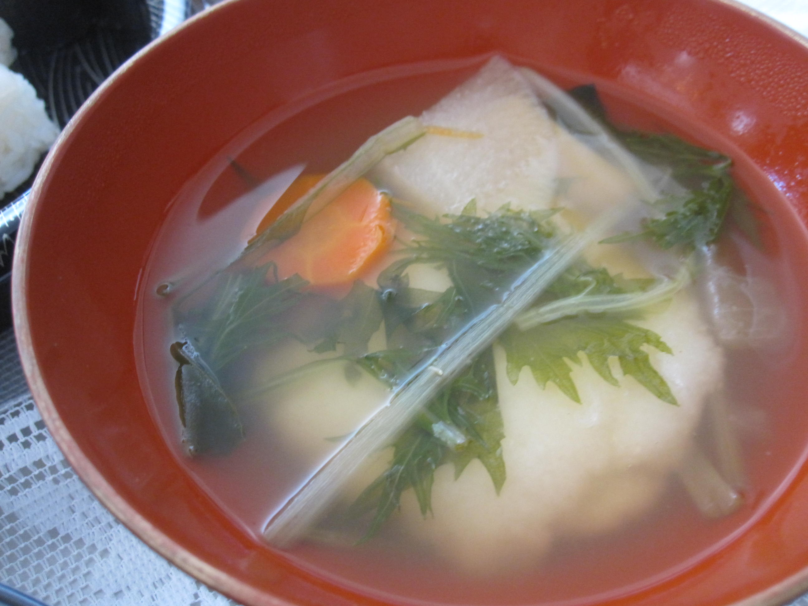 Ozoni Mochi Soup Osechi Ryori Japanese New Year Food Oshogatsu 2011 New Year Bebe Love Okazu