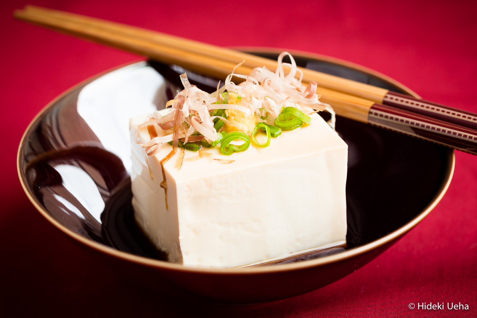 Hiyayakko traditional japanese cold tofu bebe love okazu for Authentic japanese cuisine